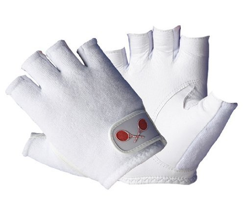 Tourna Men's Half Finger Tennis Glove (Small, Left)
