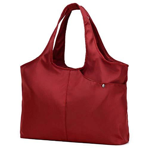 Compras Mujer Nylon Simple Bolso Sylar De Bandolera Bolsa Rojo Grande tendencia Vino Shopper Bolsp Monedero Mano Multifuncional Casual 8AOnOgHx