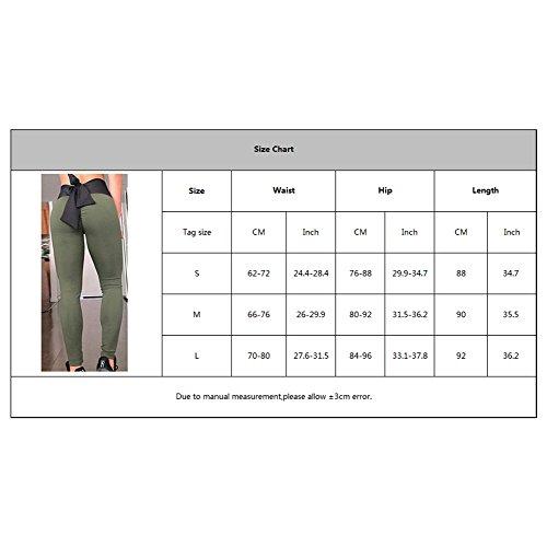 Elastica Confortevole Grigio Unita Donna Fitness Vita Bowknot Sports Pantaloni Per Con Moda Yoga Tinta Casuale w4qCxHpz