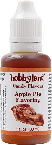 Hobbyland Candy Flavors (Apple Pie Flavoring, 1 Fl Oz), Apple Pie Concentrated Flavor (Liquid Apple Pie)