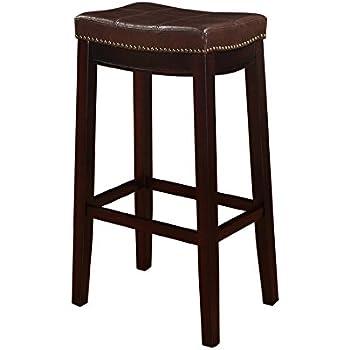 Amazon Com Barstools Bar Stool Stationary Backless Brown