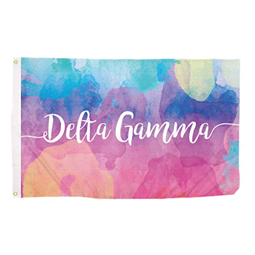 Cheap Delta Gamma Water Color Sorority Flag Greek Letter Use as a Banner Large 3 x 5 Feet Sign Decor DG