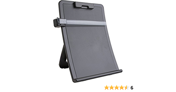 """1 Each Sparco Copy Holder With Document Clip 10/"""" X 2.5/"""" X 14.4/"""" Black"""