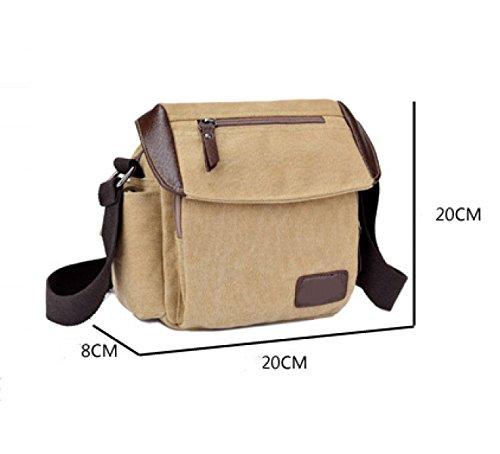 Männer Und Frauen Vintage-Canvas Schulter- Messenger Taschen Aktentasche Seiten Tasche Freizeit,B-OneSize
