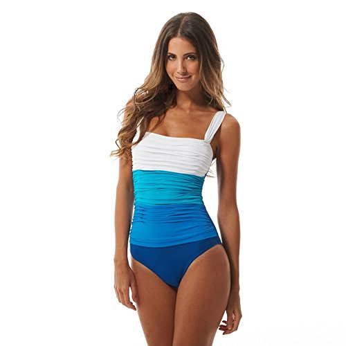 Bleu Rod Beattie Women's One Piece Lingerie Strap Tank Swimsuit Indigo 10