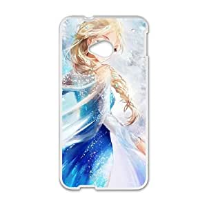 HTC One M7 Cell Phone Case White Disney Frozen Character Elsa Bwynb