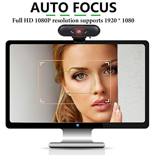 Webcam with Microphone for Desktop 1080P 30fps HD Pro Web Cam Live Streaming Web Camera USB Computer Camera for Zoom Skype PC Laptop Video Calling Conferencing Teaching Online Work Home Office