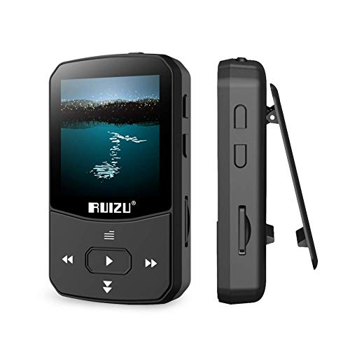 Clip Mp3 Player with Bluetooth 4.1 8GB Lossless Sound Music Palyer with FM Radio Voice Recorder Video Earphones for Running,Support up to 128GB(Black) (Ipods And Mp3 Players)