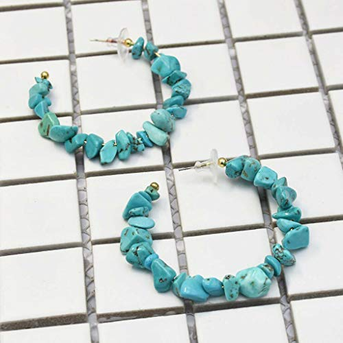 Crushed Stone Hand-Made Beaded Earring Ear Stud Craft Beaded Dangle Earring Necklace Jewelry Crafting Key Chain Bracelet Pendants Accessories Best  Color - -