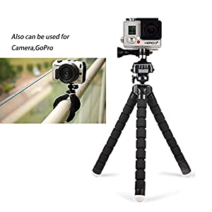 41Qzy9Z1vYL. AA300  - Adjustable Tripod Stand Holder for iPhone, Cellphone,Digicam with Common Clip and Distant