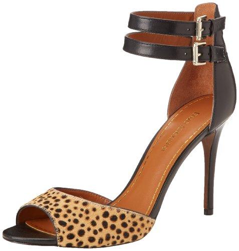Enzo Angiolini Women's Mileto Dress Sandal,Black/Leopard Haircalf,8.5 M US