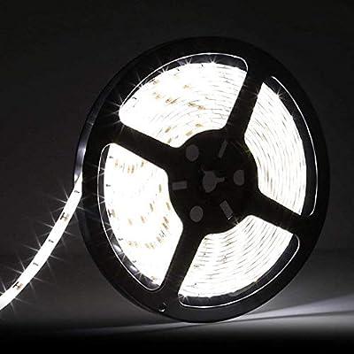 LEDMO 5630 LED Strip, Daylight 300pcs SMD 5630LEDs 16.4Ft DC12V Waterproof IP65, 25Lm/LED, 2 times brightness than SMD5050 LED Ribbon, LED Light Strip
