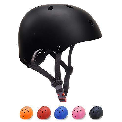Toddler Bike Helmet 3-5 Kids Helmet Multi-Sport Skateboard Scooter Cycling Helmet CPSC Certified Impact Resistance Ventilation Adjustable Helmet Kids (Black, Small)