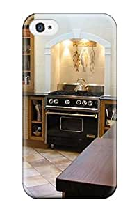 MMZ DIY PHONE CASEHigh Quality AllenJGrant Kitchen With Custom Dark Wood Cabinets And Marble Countertops Skin Case Cover Specially Designed For Iphone - 4/4s