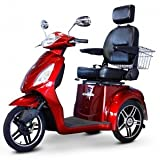 eWheels Scooter with Electromagnetic Brakes and High Speed in Red
