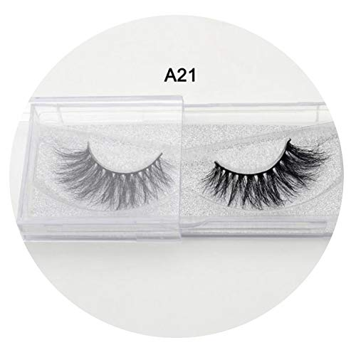 (Eyelashes 3D Real Natural Long False Eyelashes 100% Hand Made False Lashes Eyecilios Long lasting,A21)