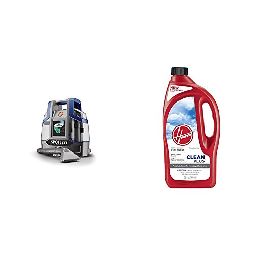 Hoover Spotless Deluxe Portable Carpet & Upholstery Spot Cleaner with CleanPlus Carpet Cleaner & Deodorizer 32 oz