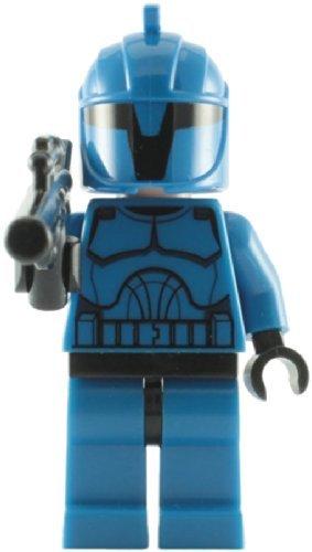Lego Star Wars Mini Figure Clone Wars - Senate Commando with Blaster Rifle (Approximately 45mm tall) (Lego Star Wars Newest)