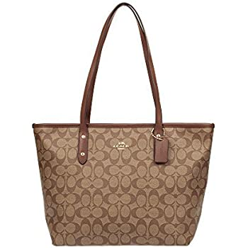 Coach Womens Signature Taylor Tote - Khaki/Brown AOY3aL