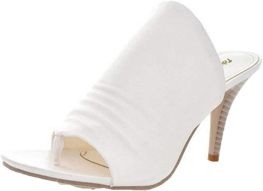 Sandalias De Tacón Fino para Mujer Zapatos De Verano Sin Cordones con Punta Abierta Slingback Bombas Fiesta Boda Oficina Femme Zapatillas De Tacón Alto