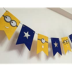 Alemon Despicable Me Minions Birthday Banner Pennant Party Decorating Kids