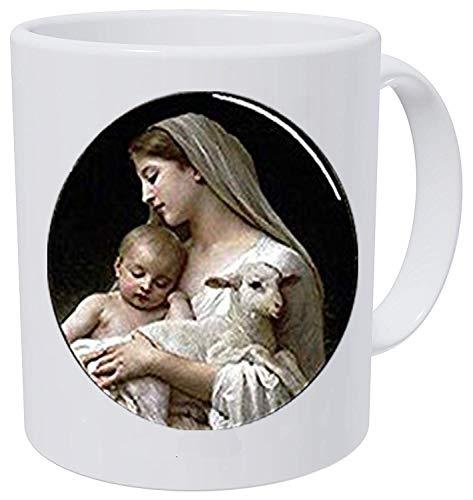 (Nativity Keychain,Virgin Mary Jesus and Lamb Keychain, Spiritual Coffee Mug Disorder Jewelry)