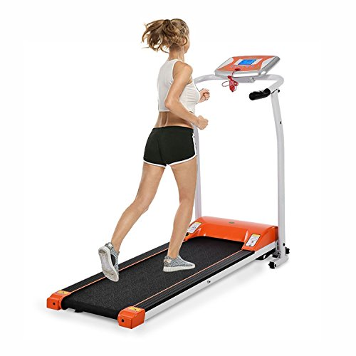 Lantusi Easy Assembly Folding Electric Treadmill Running Training Machine Equipment for Home (US Stock) (One Size, Orange)