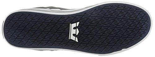 Supra Vaider Skate Shoe Grey Denim/White 9okGqmi7