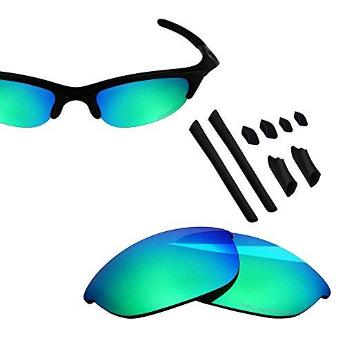 BlazerBuck Anti-salt Polarized Replacement Lenses & Sock Kit for Oakley Half Jacket - Emerald Green