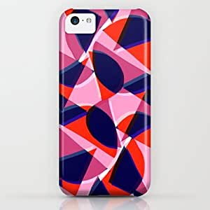 Society6 - Orange And Blue Shapes iPhone & iPod Case by Sarah Bagshaw BY icecream design