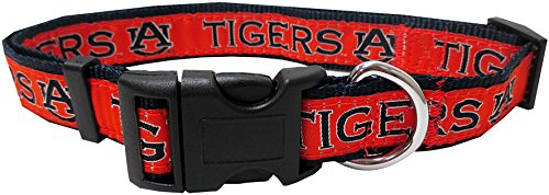 Pets First Collegiate Pet Accessories, Dog Collar, Auburn Tigers, Small