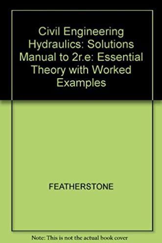 amazon com solutions manual civil engineering hydraulics rh amazon com Northern Hydraulics Northern Hydraulics