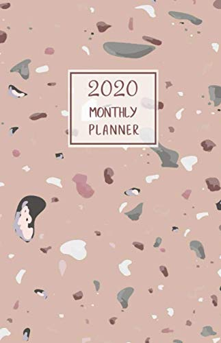 2020 Monthly Planner: Portable. Month on 2 pages followed by six Notes pages. Monthly layout Includes To-do section. 8.5
