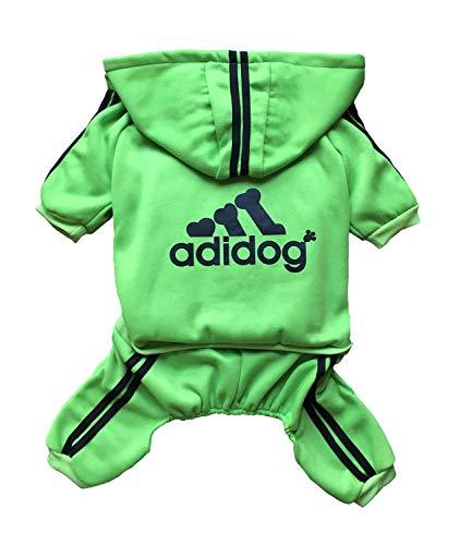 (Rdc Pet Adidog Dog Hoodies, Clothes,Fleece Jumpsuit Warm Sweater,4 Legs Cotton Jacket Sweat Shirt Coat for Small Dog Medium Dog Large Dog (3XL, Green))