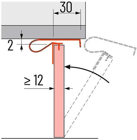 H/ÄFELE 5 x Universal Sockel Halterung Korrekt Turbo Clip 12-25 mm Blendendicke Befestigung Klammer Blendenhalter Vorderblende K/üche