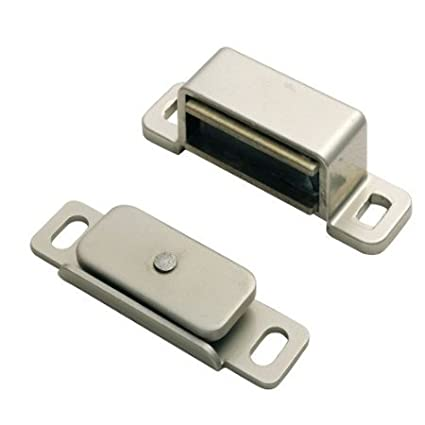5 x Heavy Duty Nickel Plated Magnetic Steel Catch with 6kg Pull Rating + Screws Carlisle Brass