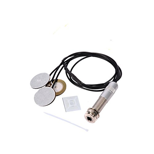Guitar Pickups Acoustic Electric Piezo Transducer Microphone Contact for Guitar Violin Ukulele (3 in 1 without covers)