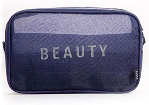 2PCS New Mesh Travel Storage Bag Black Multi-function Wash B