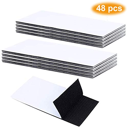 Pantinue 48-Pack Upgrade Hook Loop Adhesive Tape Self-Adhesive Mounting Sticky Double-Sided Mounting Fasten Tape Interlocking Tape for Fabric Hold Picture