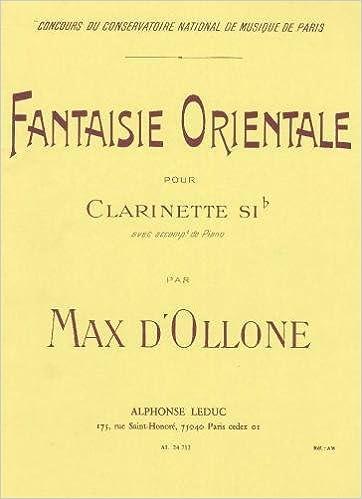 En ligne téléchargement FANTAISIE ORIENTALE CLARINETTE SIB ET PIANO pdf, epub
