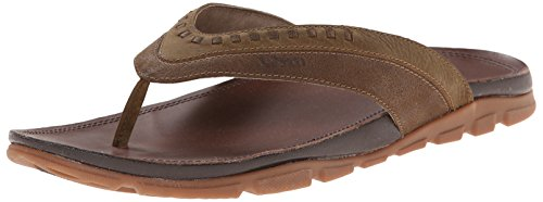 Flip Chaco Leather Flops (Chaco Men's Finn Flip Sandal, Dark Earth, 8 M US)