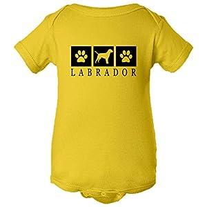 PleaseMeTees Baby Labrador Retriever Paws I Love My Dog Lover HQ Jumper-Yel-12M