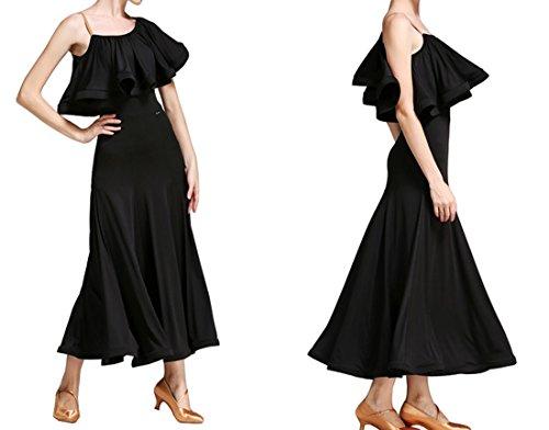 dress Lotus National Black Dress Modern Waltz Dress dress Romantic Ballroom wqTCYcxqd