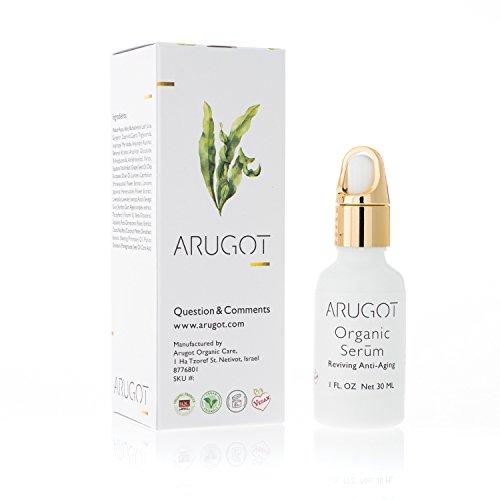 - ARUGOT Organic Anti-Aging Serum to Rejuvenate & Revitalize Skin - Anti-Wrinkle Moisturizer With Algae, Vitamin E and Aloe Vera To Reduce Fine Lines, Even Skin Tone, Age Spots, Sun Spots - 1 FL OZ.