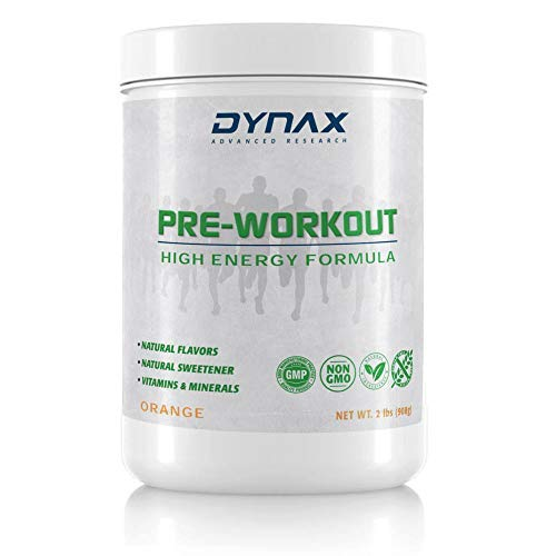 Pre Workout Powder for Men & Women Unique Clean Stimulant Free Formula with L-Carnitine, CoQ10, MCToil, No Caffeine, No Sugar, Strength, Boost Energy, Extreme Focus, Intensity - by Dynax