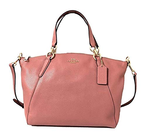 Coach Leather Small Kelsey Cross Body Bag (Vintage Pink)