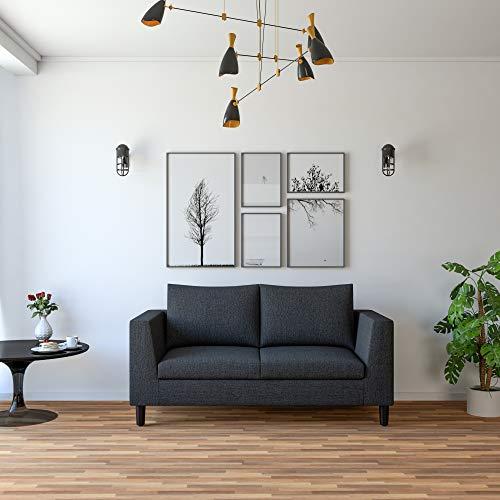 Amazon Brand   Solimo Bryan Fabric 2 Seater Sofa  Grey