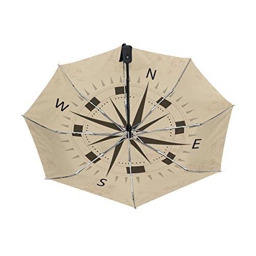 COOSUN Brújula Diseño automático 3 Plegable del Paraguas del ...