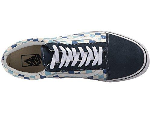 Vans U Old Skool (QCM) (Checkerboard) Blue Topaz/Blue (13 Women/11.5 Men M US) by Vans (Image #8)