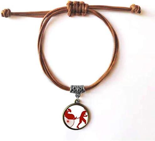 DIYthinker Chinese Jinrikisha Culture silhouet mode armband leer touw dubbele armband paar